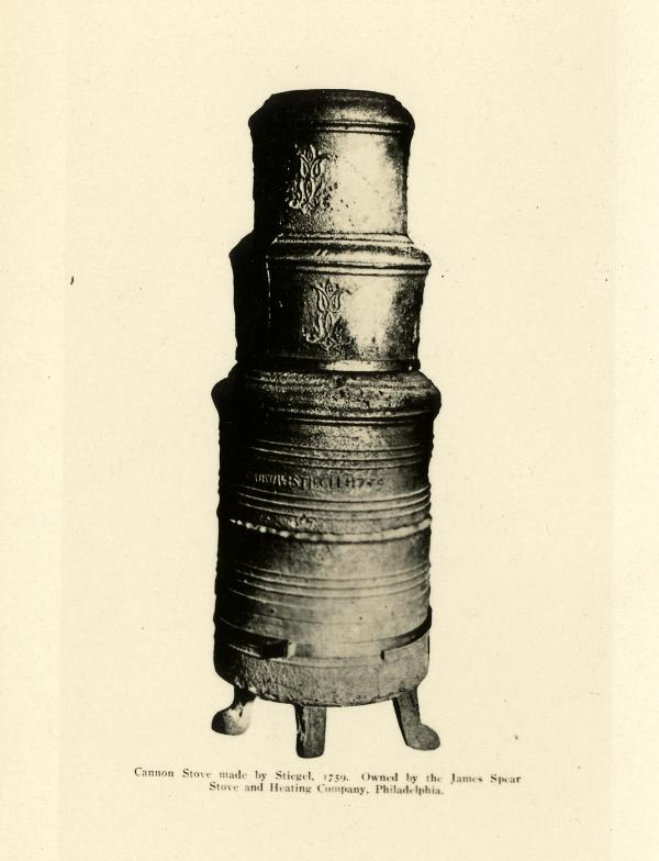 Photograph of a common Stiegel Stove.