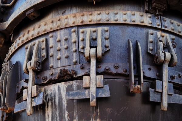 Detail of an abandoned  Bessimer Converter