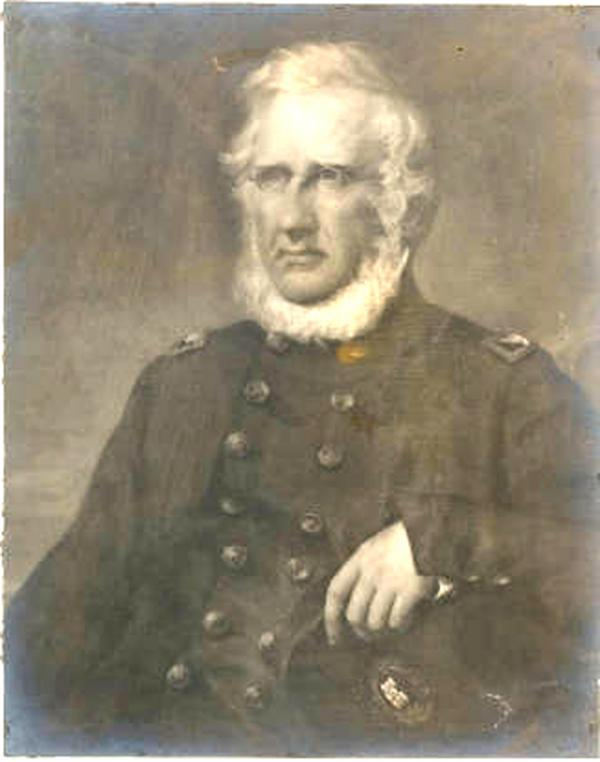 Painting of Captain Richard Delafield, head and shoulders, in uniform.