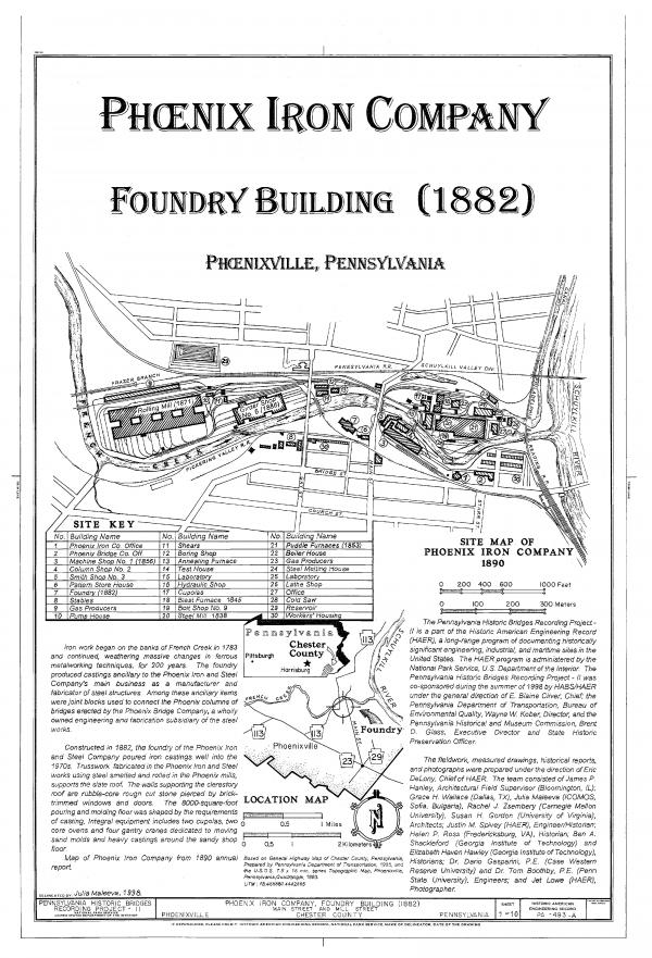 Site map of Phoenix Iron Company, 1890