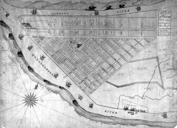 1805 Map of Pittsburgh
