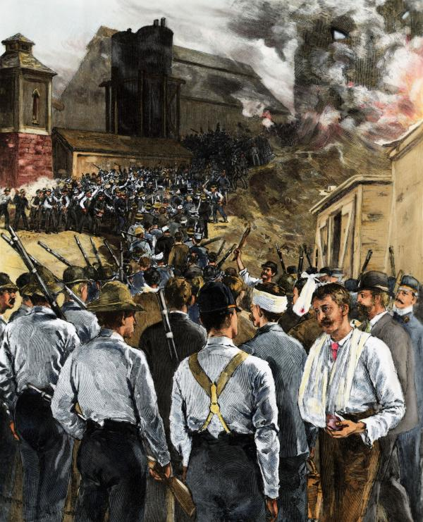 homestead strike of 1892 Homestead strike: survey of the homestead strike, the violent labour dispute between the carnegie steel company and many of its workers that occurred on july 6, 1892, in homestead, pennsylvania.