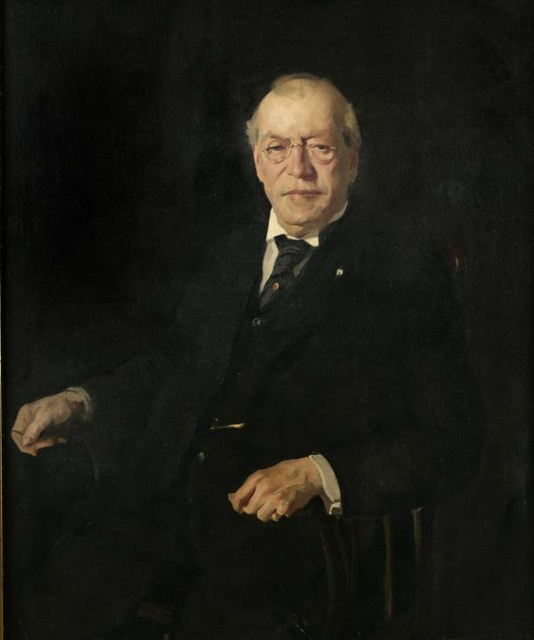 Oil on canvas of Samuel Gompers.