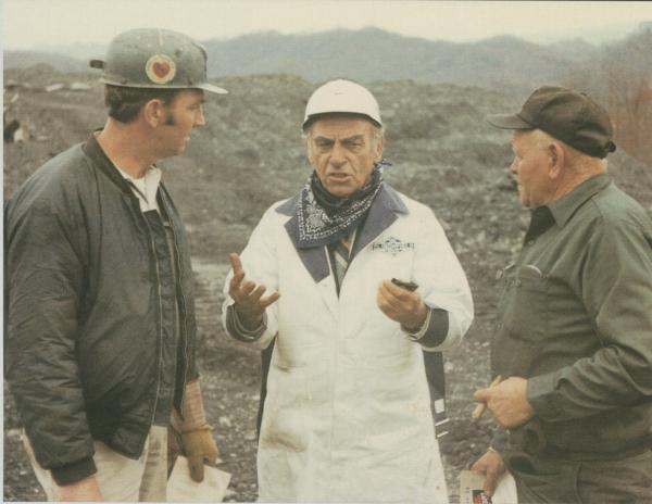 Jock Yablonski visting coal miners.