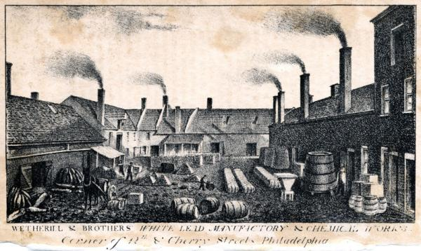 Exterior lithograph of the works.