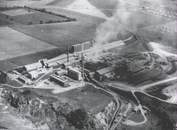 Aerial view of Lehigh Portland Cement Mill