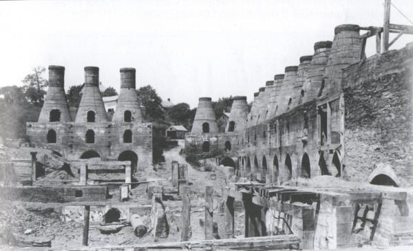 General view of the kilns and quarry.