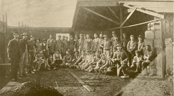 McFeely Brick Company group photograph of workers.