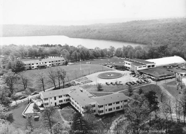 Aerial photograph of Unity House buildings and grounds. Forest Park, PA.