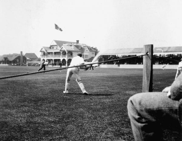 A match in progress at the Philadelphia Cricket Club, 1899.