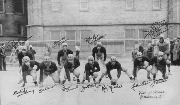 The Garfield Eagles in uniform, group photograph.