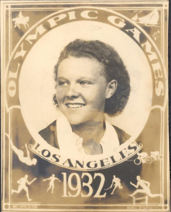 Sports card with the photograph of a young female athlete.