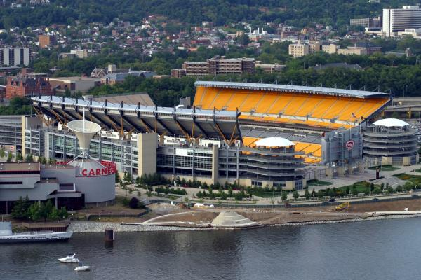 Heinz Field, Pittsburgh, Pa. August 6, 2005. Taken from Mt. Washington, Ohio River is in the foreground.