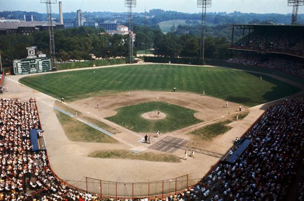 Color image of the field and stands.