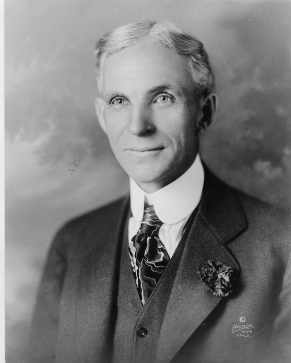 Henry Ford, head-and-shoulders portrait, facing slightly left.