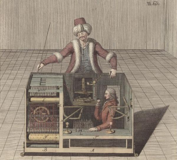 The Automaton Chess-Player, the Turk, and the human being inside.