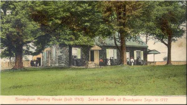 A photograph of The Birmingham Friends Meeting House.