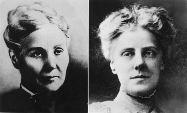 Black and White image of Mrs. Anna Jarvis and her daughter Anna Jarvis