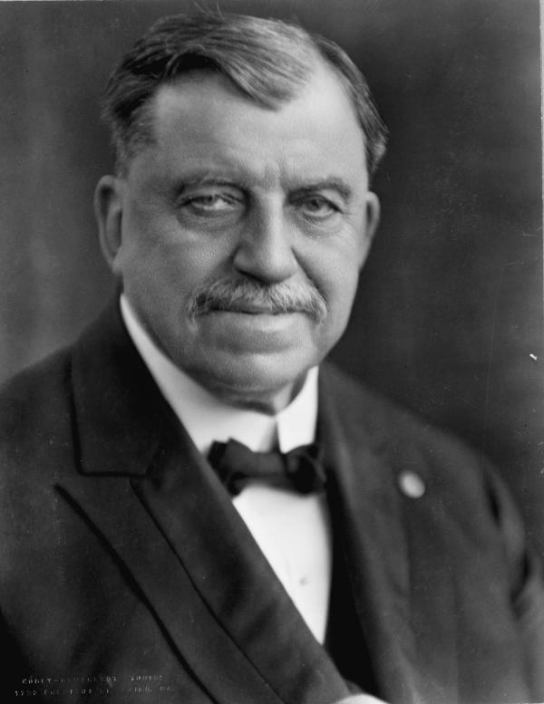 Rev. Russell Herman Conwell, head-and-shoulders portrait, facing front.