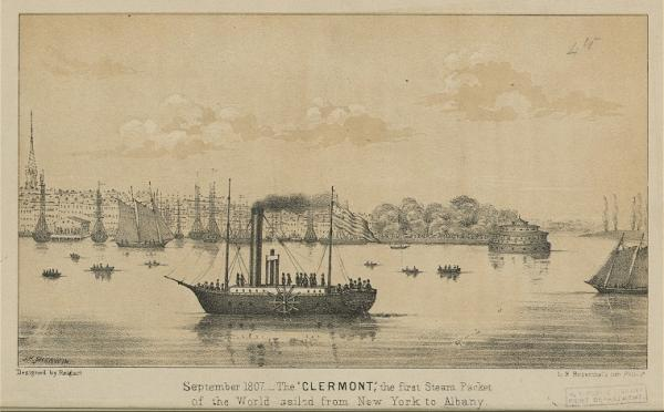 Illustration of a ship on the water