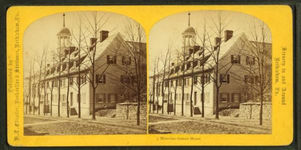 Exterior, stereoscopic view.
