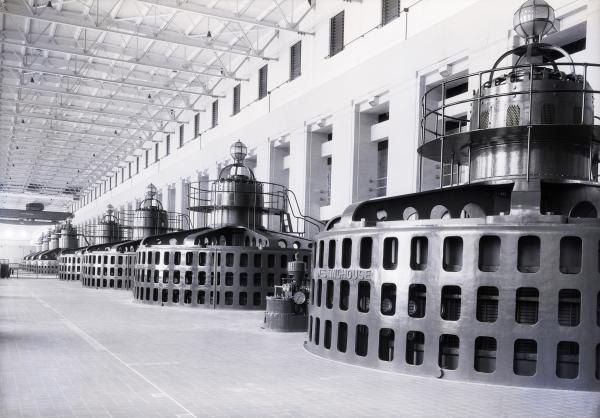 Turbine Room of Wilson Dam Power Plant,  Florence, Alabama