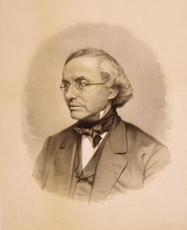 Isaac Leeser (1806-1868), half-length portrait, left profile.