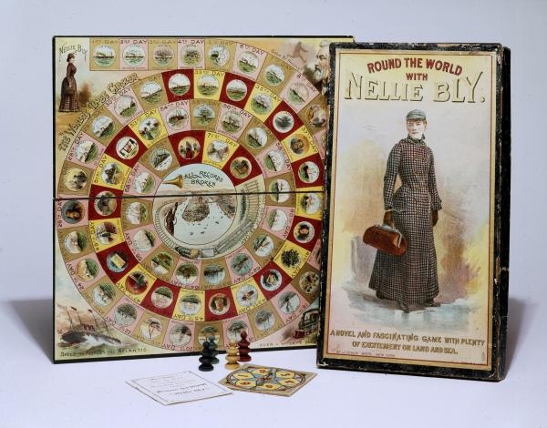 Game board and box cover.