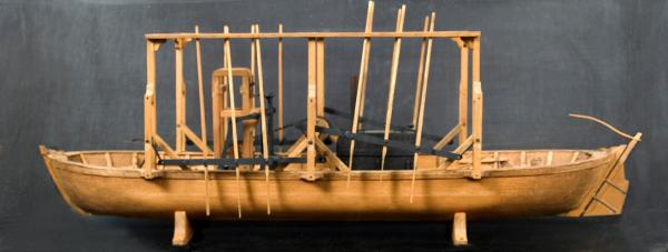 Patent model of paddle-driven boat.