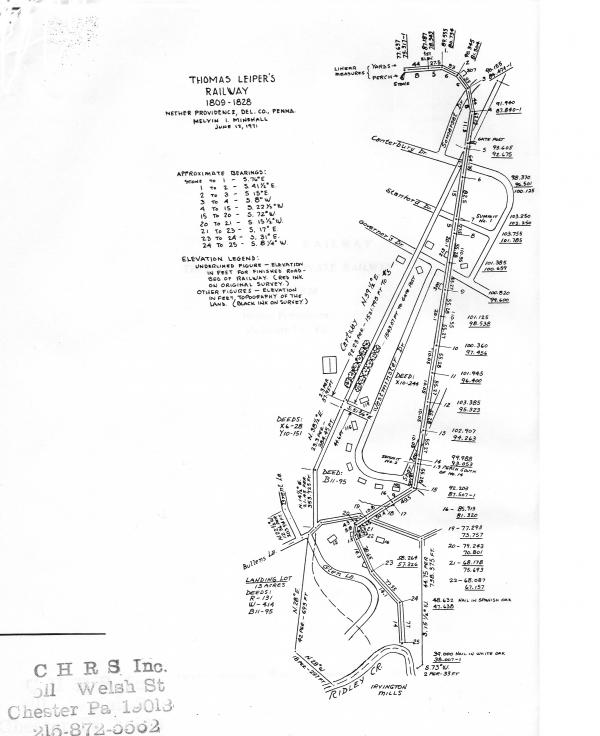 Map of the Leiper Railroad