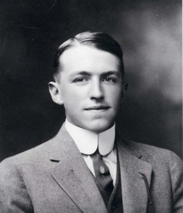 A young man, head and shoulders.