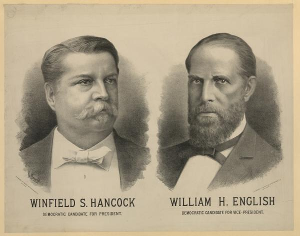 Campaign poster with two head shots