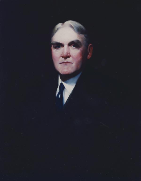 Oil on canvas, official portrait.