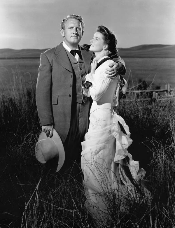 Spencer Tracy and Katharine Hepburn in MGM's Sea of Glass, film version of Conrad Richter's novel, directed by Elia Kazan. 1947.