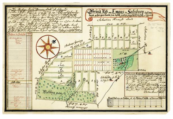 Emmaus map,  1760.