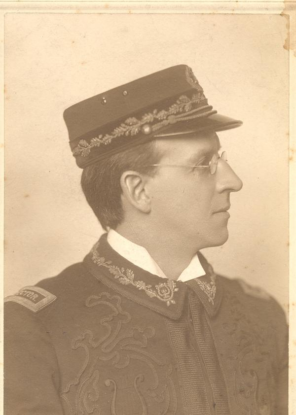 Profile head and shoulders - dressed in band uniform