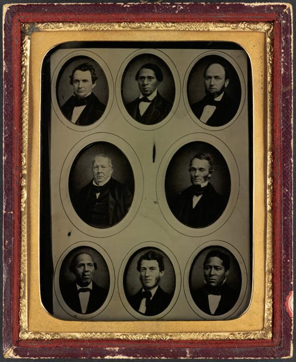 Philadelphia Vigilance Committee Abolitionists; Garrett, Thomas, 1789-1871; Purvis, Robert, 1810-1898; Still, William, 1821-1902; Williamson, Passmore; Depee, N.W.; MacKim M'Kim, James Miller; White, Jacob; Wise, Charles