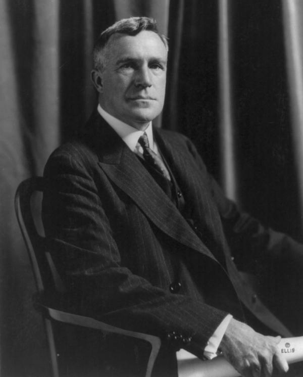 George Horace Lorimer, half-length portrait, seated.