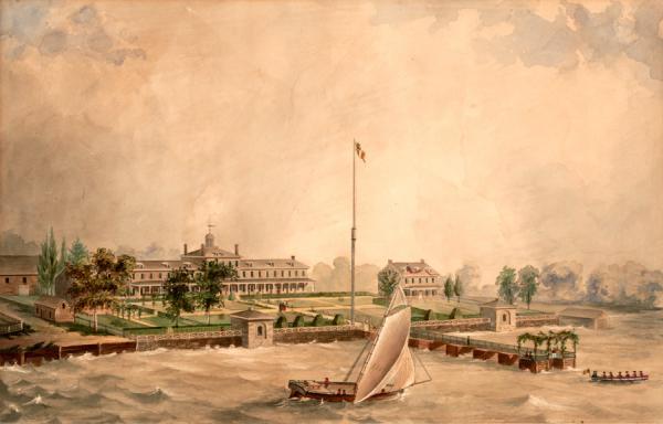 Exterior landscape painting.