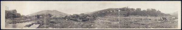 Ruins of Austin, Pa. after flood of Sept. 30, 1911
