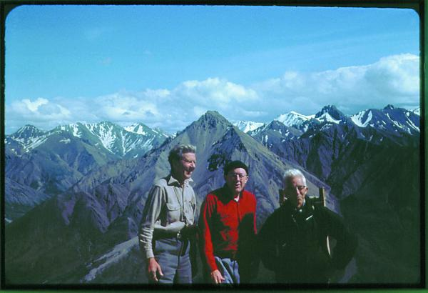 Olaus Murie, Howard Zahniser and Adolph Murie (left to right) on Cathedral Mountain in what is now Denali National Park.