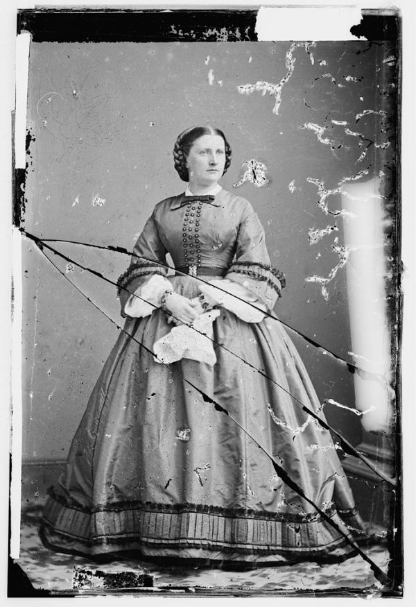 Photograph of Harriet Lane, President Buchanan's niece and first lady of the United States from 1857-1861.
