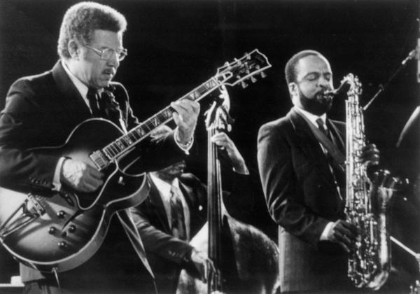 Grover Washington Jr. and Kenny Burrell Playing their horns.