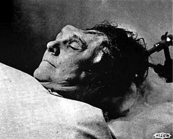 Picture of corpse of Fannie Sellins after her death, August 1919.
