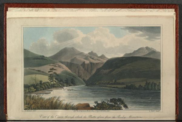 """View of the Chasm through which the Platte issues from the Rocky Mountains,"" 1823."