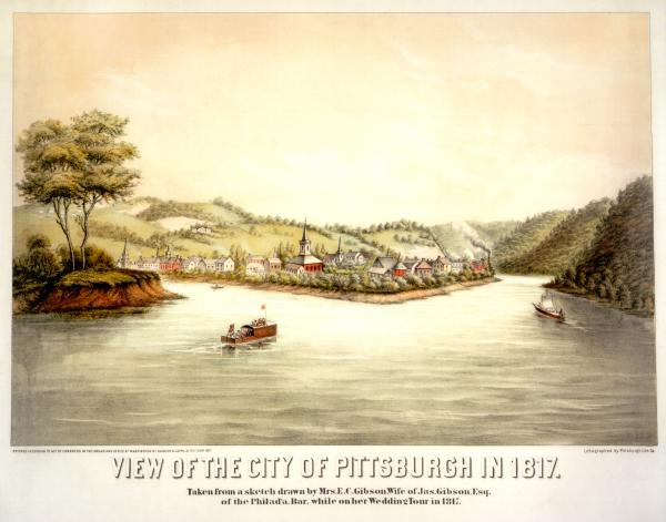 Pittsburgh watercolor 1817