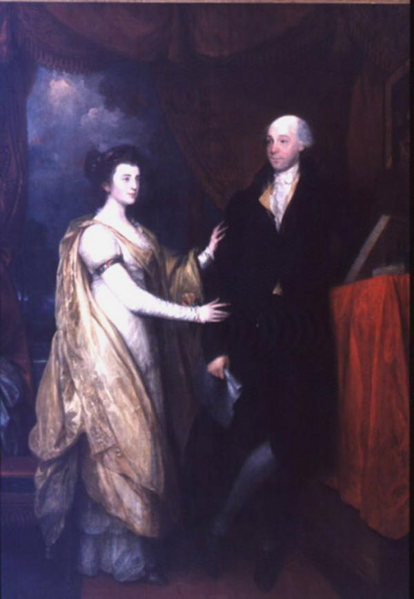 Portrait of William Hamilton and his niece