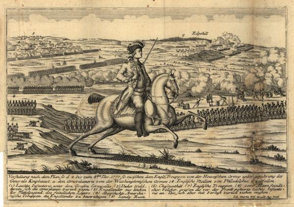 German engraving of Battle of Saratoga
