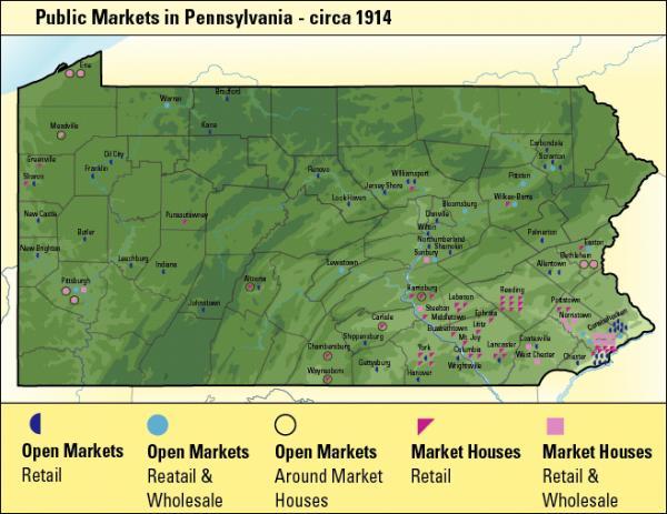 map of Public markets