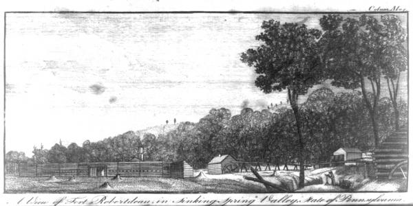 A view of Fort Robertdeau, in Sinking-Spring Valley, 1788